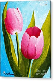 Pink Bubblegum Tulip II Acrylic Print