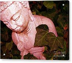 Pink Buddha Love Acrylic Print by Chuck Taylor