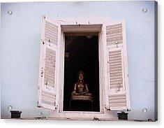 Acrylic Print featuring the photograph Pink Buddha by Rasma Bertz