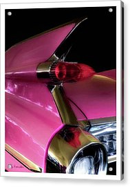Pink Cadillac Acrylic Print by Trey Foerster