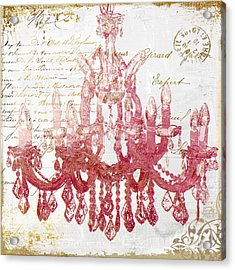 Pink Chandelier Acrylic Print by Mindy Sommers