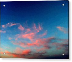 Pink Clouds Abstract Acrylic Print