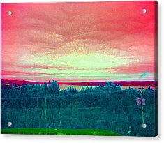 Pink Clouds Acrylic Print by Allison Prior