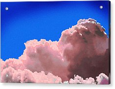 Pink Cluod Acrylic Print by John Toxey