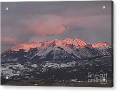 Pink Colorado Rocky Mountain Sunset Acrylic Print