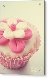 Acrylic Print featuring the photograph Pink Cupcake by Lyn Randle