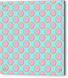 Pink Donuts Acrylic Print by Little Bunny Sunshine