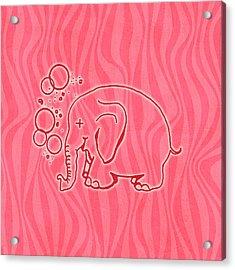Pink Elephants Acrylic Print