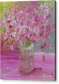 Pink Explosion Acrylic Print