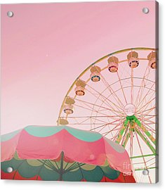 Acrylic Print featuring the photograph Pink Ferris Wheel by Cindy Garber Iverson