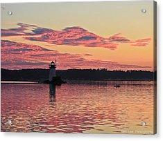 Pink Fire Acrylic Print