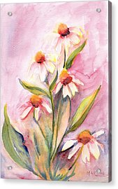 Pink Flowers Acrylic Print