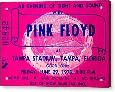 Pink Floyd Concert Ticket 1973 Acrylic Print