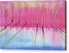 Pink Forest Acrylic Print by Cat Crimson