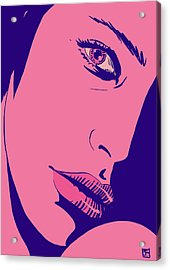 Acrylic Print featuring the drawing Pink by Giuseppe Cristiano
