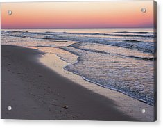 Pink Glow Seaside New Jersey 2017 Acrylic Print