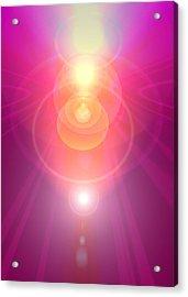 Pink Guardian-angel Acrylic Print by Ramon Labusch