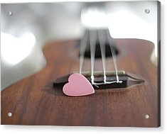 Pink Heart Acrylic Print by © 2011 Staci Kennelly