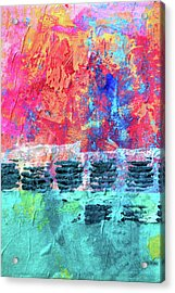 Acrylic Print featuring the painting Pink Horizon by Nancy Merkle