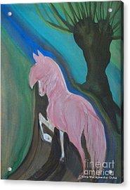Pink Horse Acrylic Print