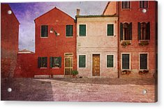 Acrylic Print featuring the photograph Pink Houses by Anne Kotan