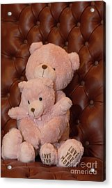 Pink Hugging Bears 2 Acrylic Print