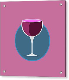 Pink Icon Of The Wine Acrylic Print by Michal Blaha