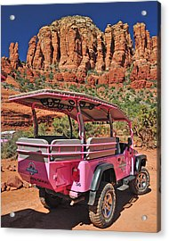 Pink Jeep At Sedona Acrylic Print