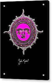 Pink Jewel Mohawk Sun Acrylic Print by John Keaton