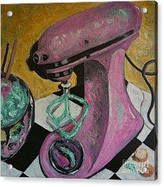 Pink Kitchenaid Acrylic Print by Sherri Bramlett