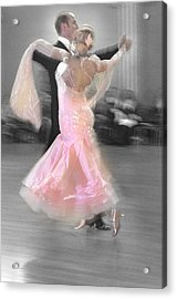 Pink Lady Dancing Acrylic Print by Kevin Felts