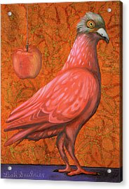 Acrylic Print featuring the painting Pink Lady by Leah Saulnier The Painting Maniac