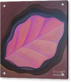 Pink Leaf Acrylic Print