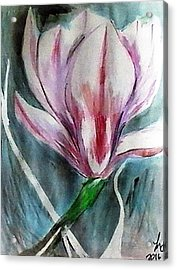 Pink Magnolia Acrylic Print by Loretta Nash