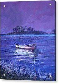Pink Marsh Acrylic Print by Sinisa Saratlic