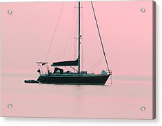 Acrylic Print featuring the photograph Pink Mediterranean by Richard Patmore
