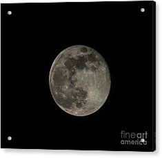 Acrylic Print featuring the photograph Pink Moon by David Bearden
