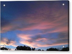 Pink Morning Clouds Acrylic Print
