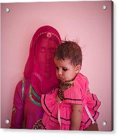 Pink Mother Acrylic Print