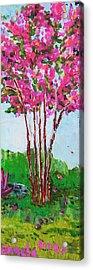 Pink Myrtle Acrylic Print