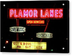 Pink Neon Acrylic Print by Jame Hayes