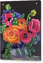 Pink On Black Acrylic Print