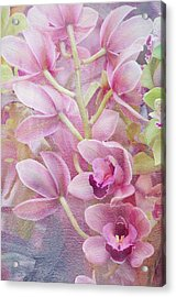 Acrylic Print featuring the photograph Pink Orchids by Ann Bridges