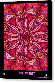 Acrylic Print featuring the digital art Pink Parfait by Charmaine Zoe