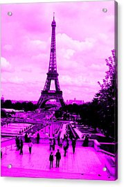Acrylic Print featuring the photograph Pink Paris by Michelle Dallocchio