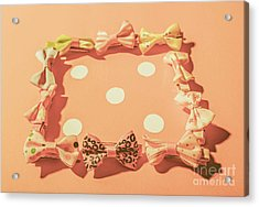 Pink Pastel Fashion Celebration Acrylic Print