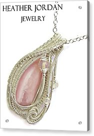 Pink Peruvian Opal Pendant In Sterling Silver With Ethiopian Opals Pposs2 Acrylic Print