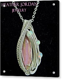 Pink Peruvian Opal Pendant In Sterling Silver With Ethiopian Welo Opals Pposs3 Acrylic Print