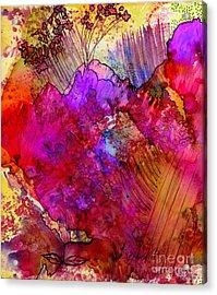 Pink Petals II Acrylic Print by Angela L Walker
