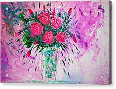 Acrylic Print featuring the painting Pink by Piety Dsilva